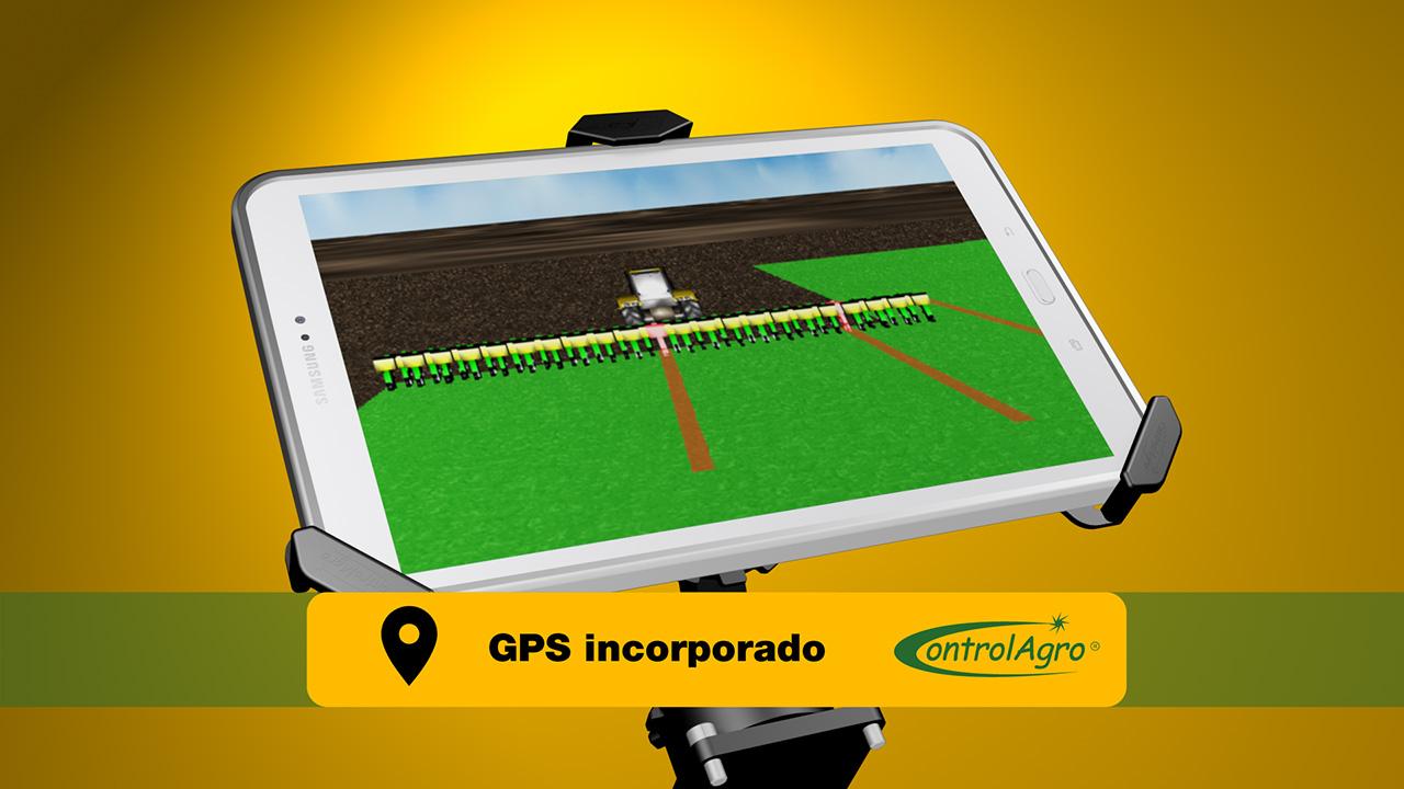 Gracias al Sistema de Posicionamiento Global (GPS) el CAS 5100T puede conocer con precisión la ubicación del implemento durante el proceso de siembra o fertilización.