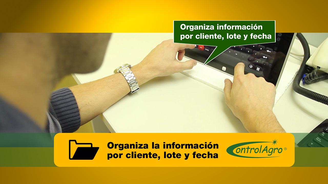 Organiza la información por cliente, lote y fecha para trazabilidad, análisis, estadísticas, etc.